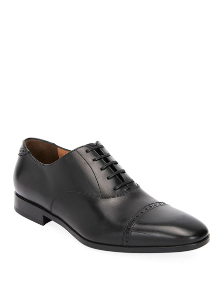 Salvatore Ferragamo Men's Boston Leather Lace-Up Dress Oxford,