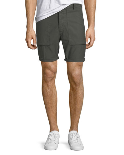 Men's Kontact Military-Inspired Twill Shorts