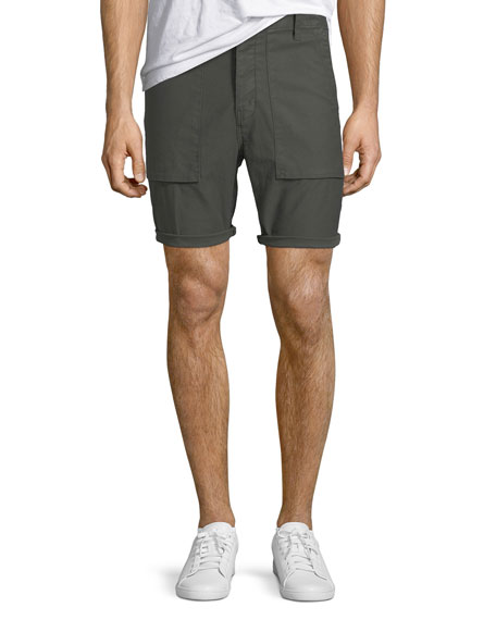 J Brand Men's Kontact Military-Inspired Twill Shorts