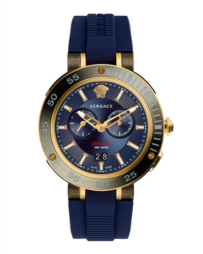 V-Extreme Pro Multifunction Dual Time Watch with Blue Silicone Strap
