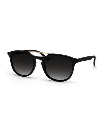 Men's Rainey Universal-Fit Round Sunglasses