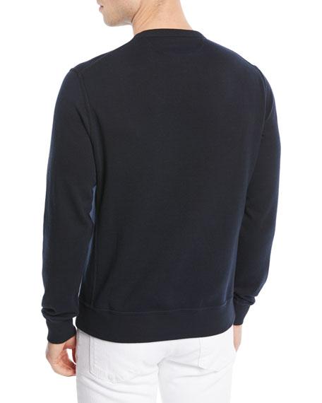 Men's Solid Cotton-Blend Sweatshirt