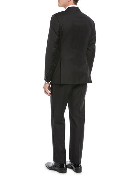 Men's Super 130s Wool Two-Piece Tuxedo Suit