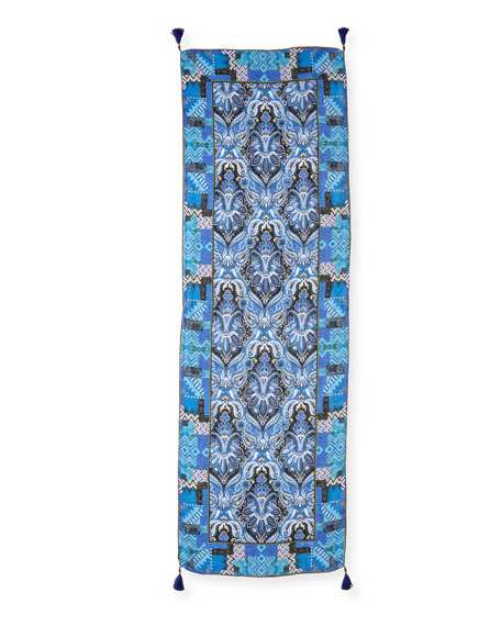 Sciarpa Shaal Nur Paisley Scarf with Tassels