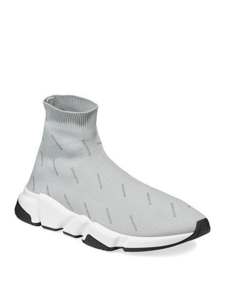 Balenciaga Men's Speed Mid-Top Sock Sneakers