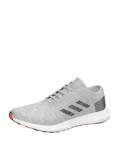 Adidas Men's PureBOOST Element Knit Trainer Sneaker, Gray