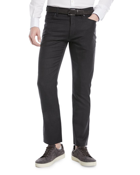 Wool-Stretch 5-Pocket Pants