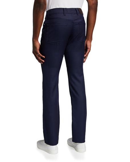 5-Pocket Straight-Leg Wool Pants