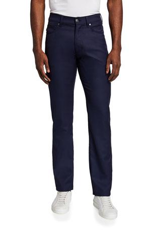 Ermenegildo Zegna 5-Pocket Regular-Fit Wool Pants