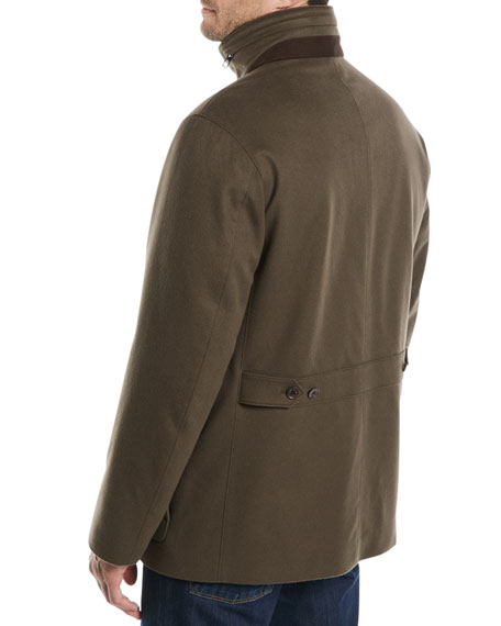 Winter Voyager Cashmere Storm System Coat