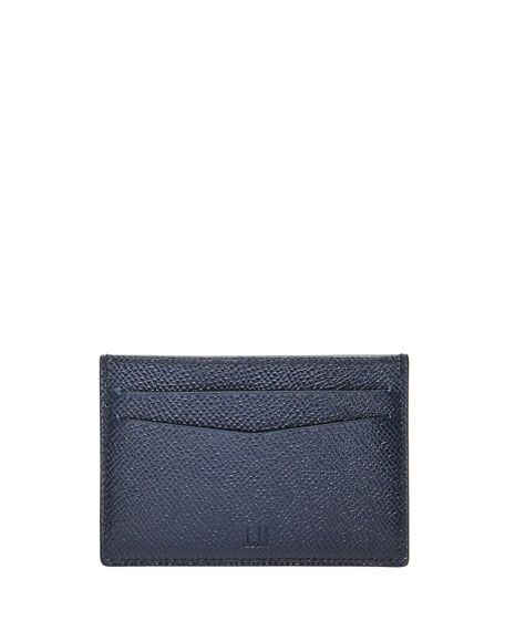 Cadogan Simple Card Case, Navy