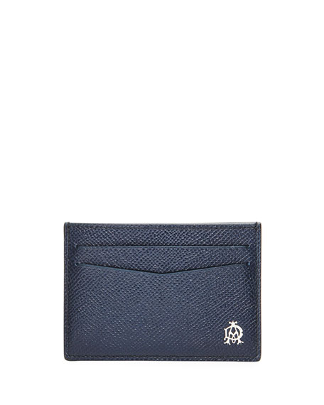 dunhill Cadogan Simple Card Case, Navy