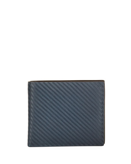Chassis Leather Billfold Wallet, Navy