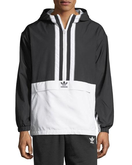 Authorized Two-Tone Anorak Jacket