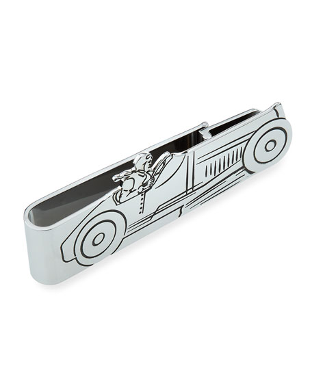 Rhodium-Plated Racer Money Clip