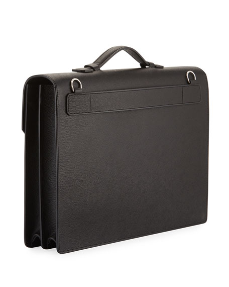 Cadogan Double-Flap Leather Briefcase