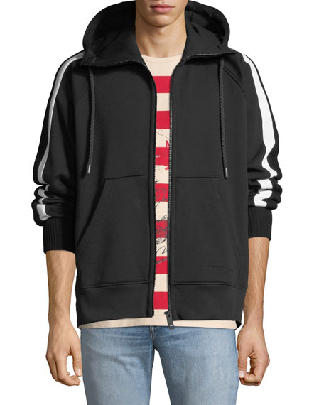 Burberry Men's Arade Knit Zip-Front Hoodie