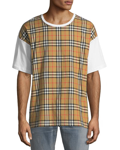 Men's Signature Check Cotton T-Shirt