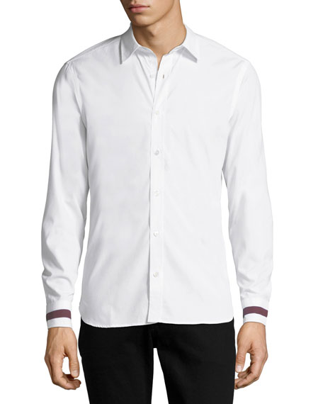 Men's Reynoldton Stripe-Cuff Sport Shirt