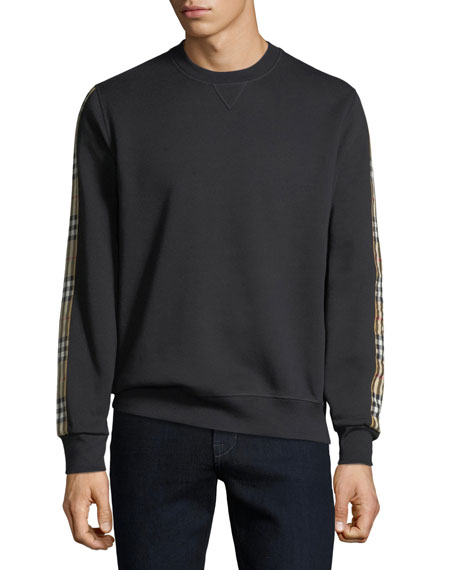 Burberry Men's Camilla Check-Striped Sweatshirt