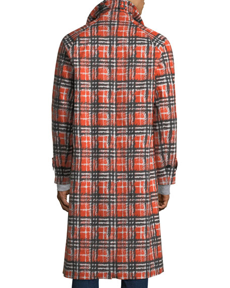 Men's Brighton Check Cotton Coat