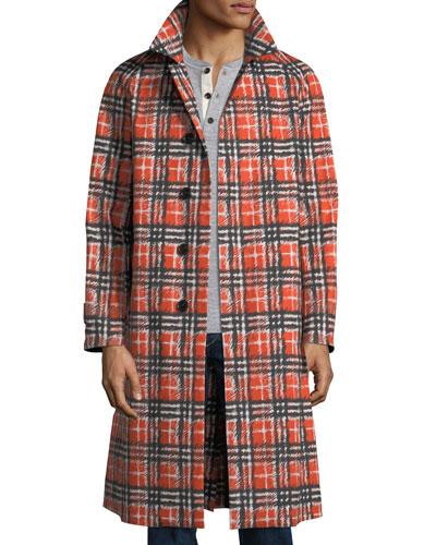 Men's Brighton Check Cotton Coat