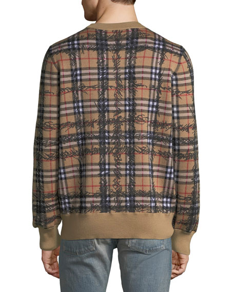 Men's Kern Scribble Check Sweatshirt