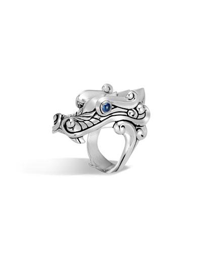 Men's Legends Sapphire Dragon Ring