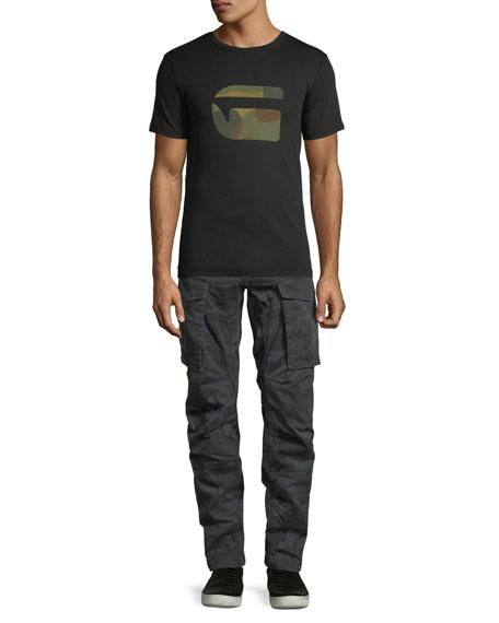 Rovic Camo-Print 3D Zip Cargo Pants
