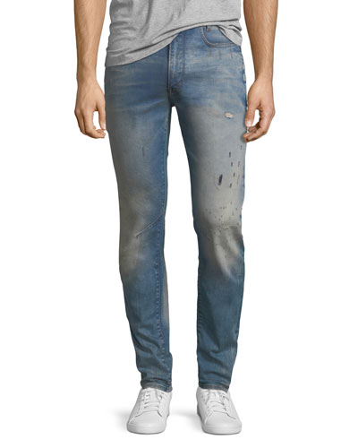 D-Staq 3D Super Slim Jeans in Light Aged Restored