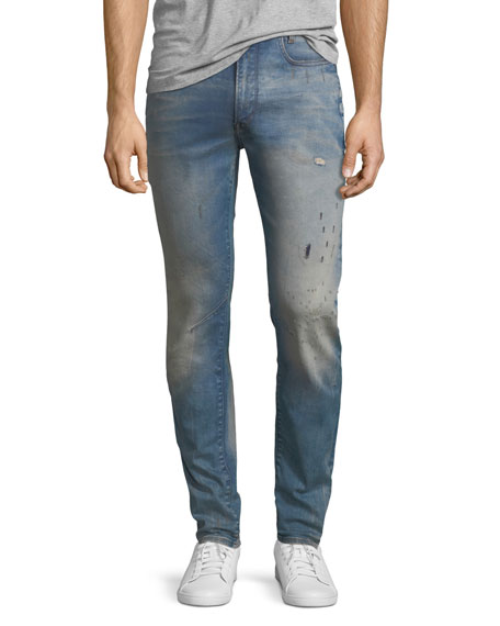 D-Staq 3D Super Slim Jeans in Light Aged Restored