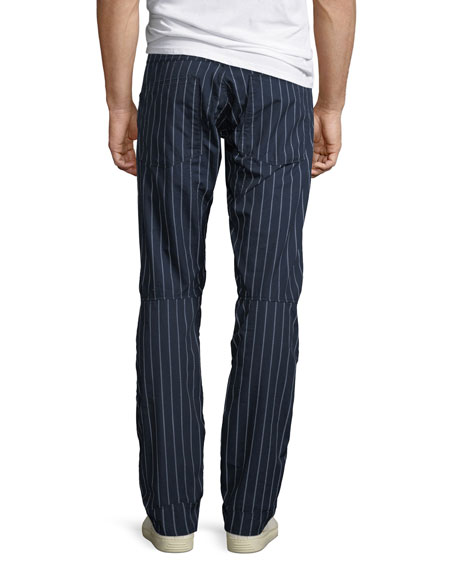Men's Pinstriped Tapered Cotton Pants