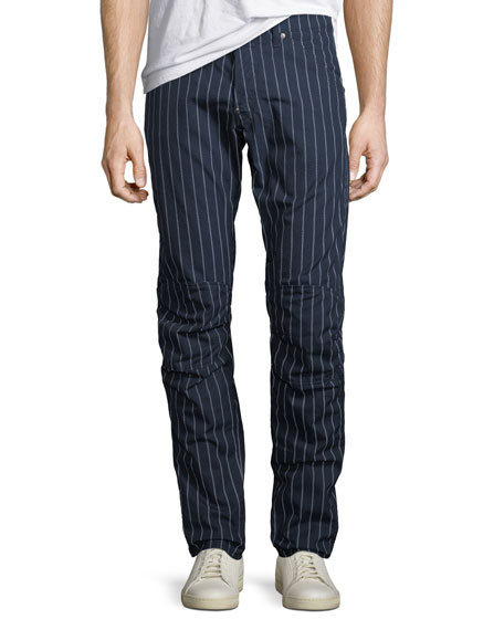 G-Star Men's Pinstriped Tapered Cotton Pants