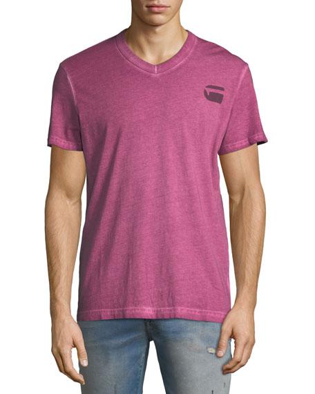 G-Star Doax V-Neck Heathered Jersey T-Shirt