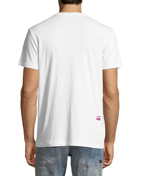 Zeabel Graphic Cotton T-Shirt, White