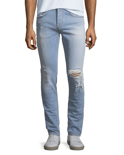 Axl Distressed Skinny Jeans, Blaze