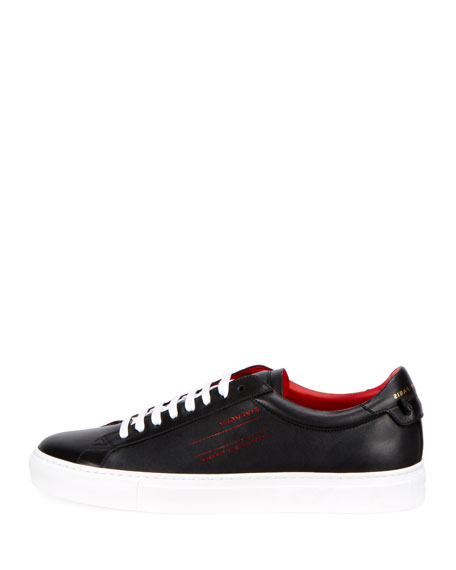 Men's Urban Leather Logo-Sides Street Sneakers