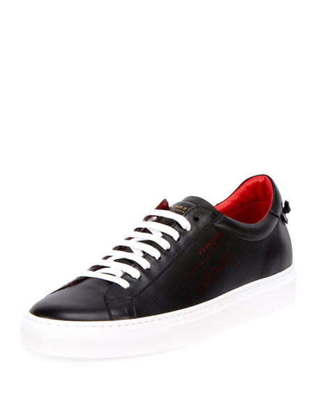 Givenchy Men's Urban Leather Logo-Sides Street Sneakers