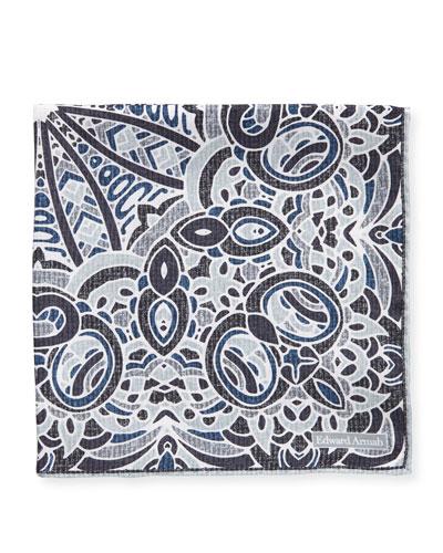 Abstract Silk Pocket Square