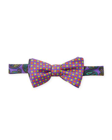 Maui Paisley & Polka-Dot Bow Tie