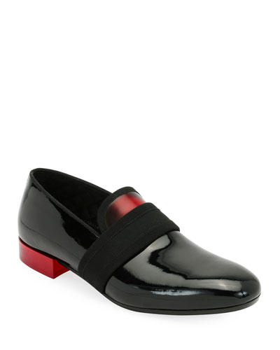 Men's Banded Patent Leather Formal Loafer