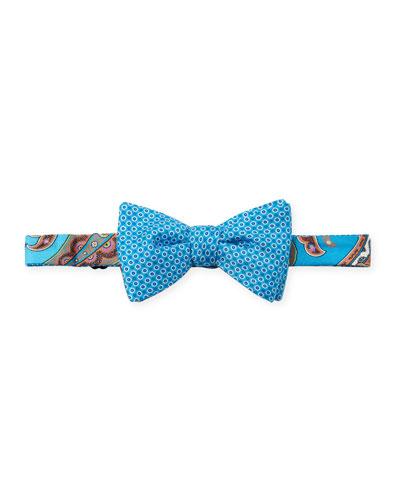 Luanda Paisley & Neat-Dot Bow Tie