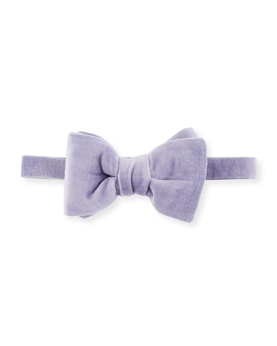 Velvet Bow Tie, Medium Purple