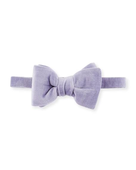 Velvet Bow Tie, Medium Purple
