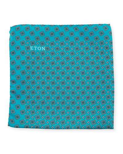 Neat Square Silk Pocket Square