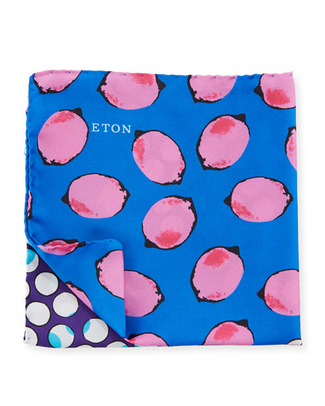 Eton Pink Lemonade Silk Pocket Square