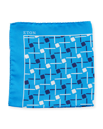 Open Ground Geometric Silk Pocket Square
