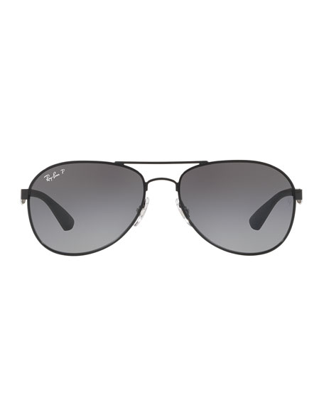 Ray-Ban Men's Rubber/Metal Polarized Aviator Sunglasses