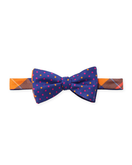 Clark Plaid & Polka-Dot Bow Tie
