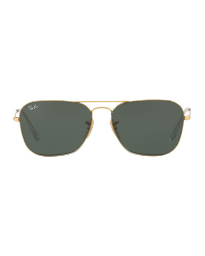 Men's Metal Rounded Square Sunglasses
